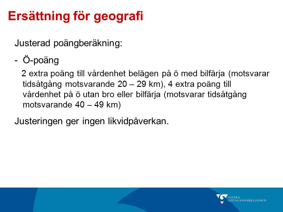 Ersättning för geografi