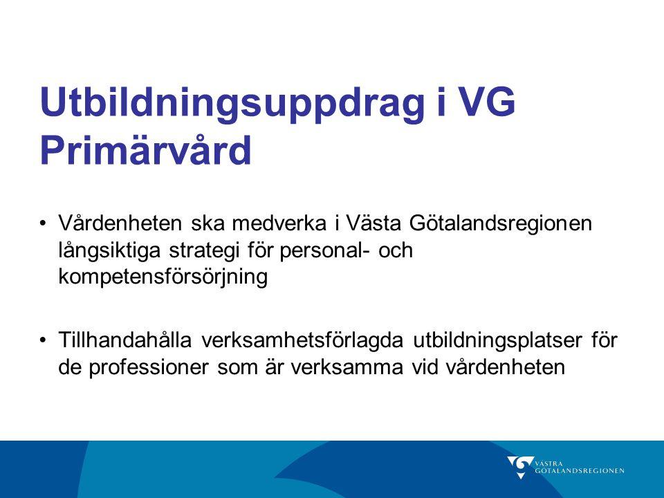 Utbildningsuppdrag i VG Primärvård