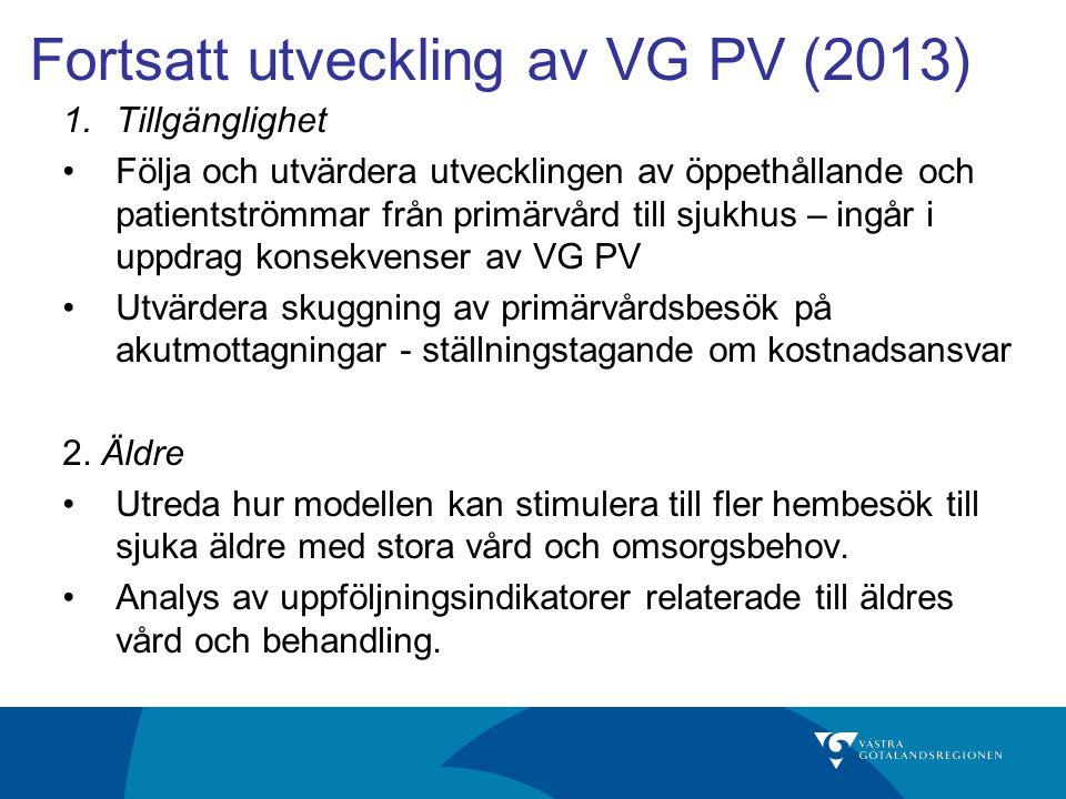 Fortsatt utveckling av VG PV (2013)