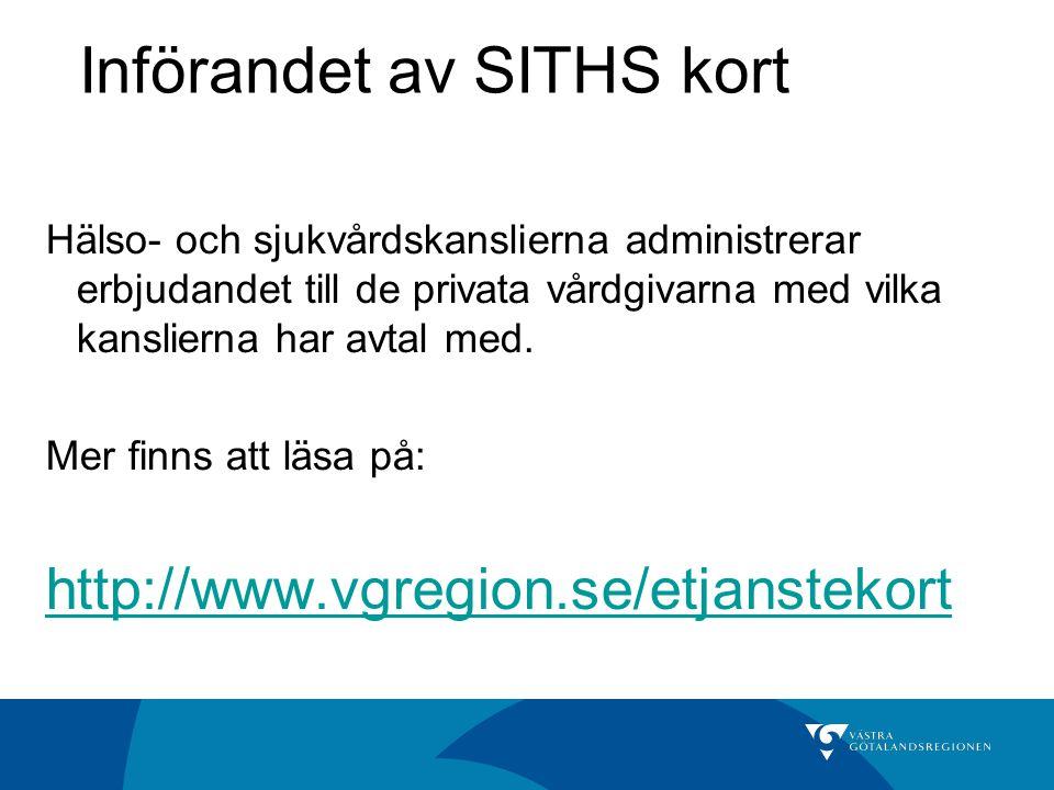 Införandet av SITHS kort