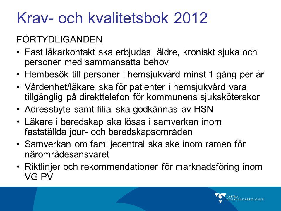 Krav- och kvalitetsbok 2012