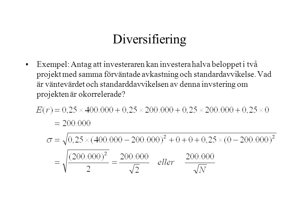 Diversifiering