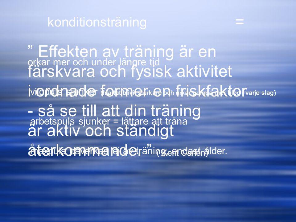 Effekten av träning är en färskvara och fysisk aktivitet