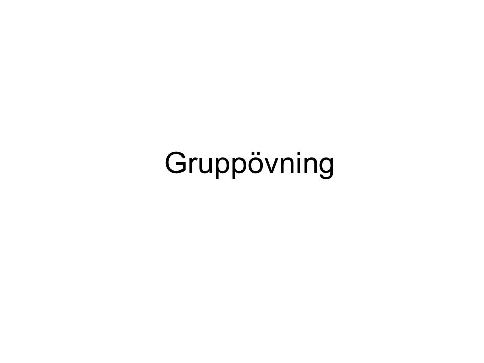 Gruppövning