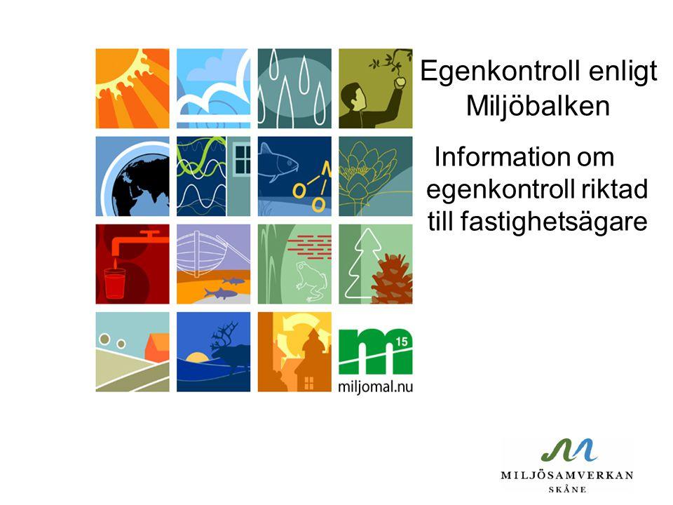 Egenkontroll enligt Miljöbalken