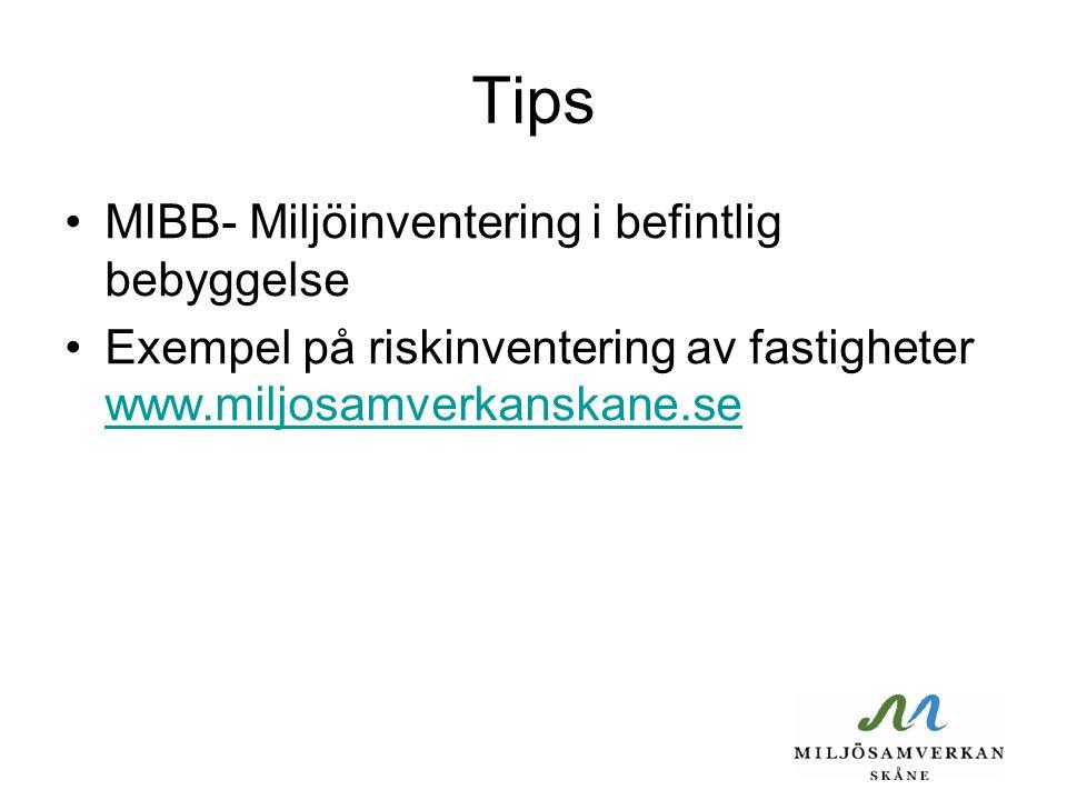 Tips MIBB- Miljöinventering i befintlig bebyggelse