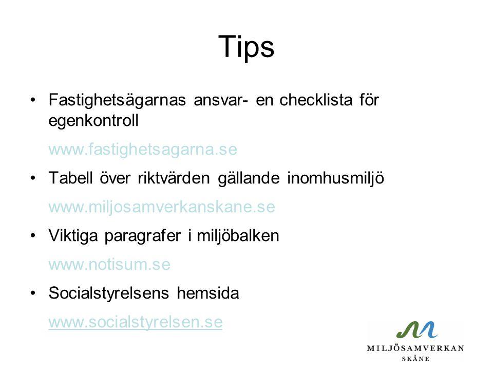 Tips Fastighetsägarnas ansvar- en checklista för egenkontroll