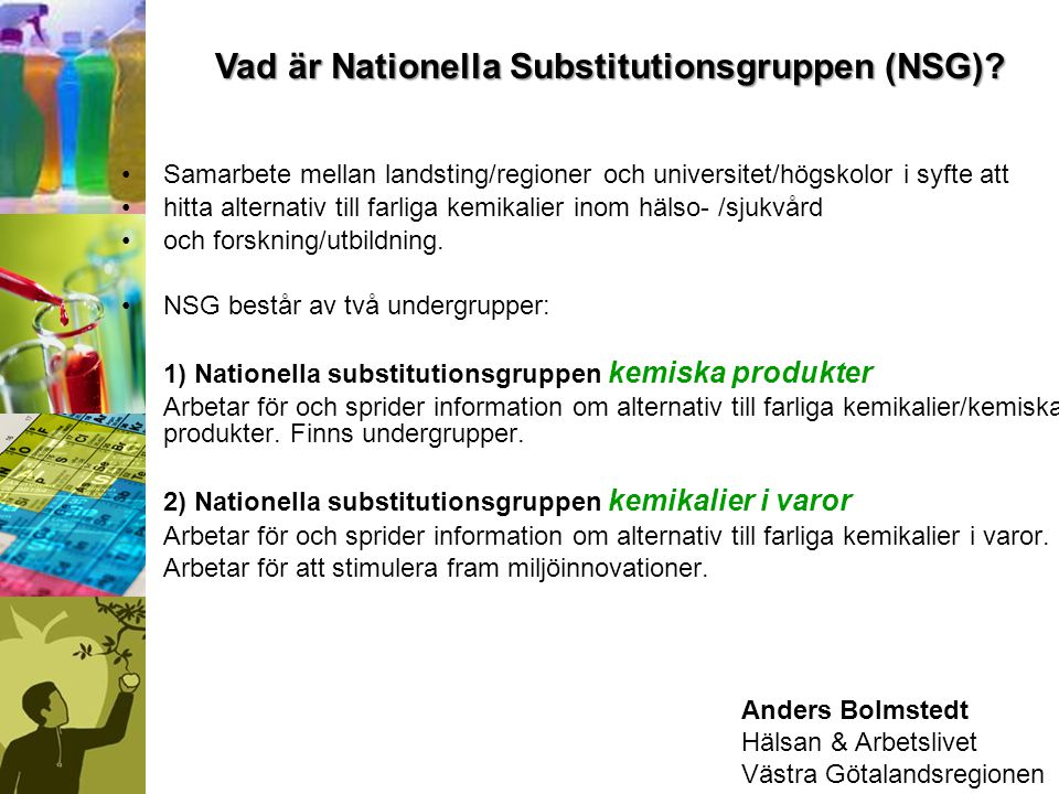 Vad är Nationella Substitutionsgruppen (NSG)