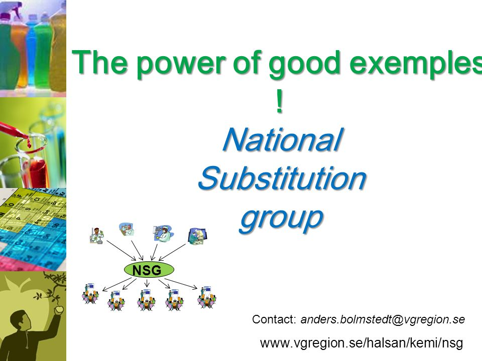 The power of good exemples ! National Substitution group