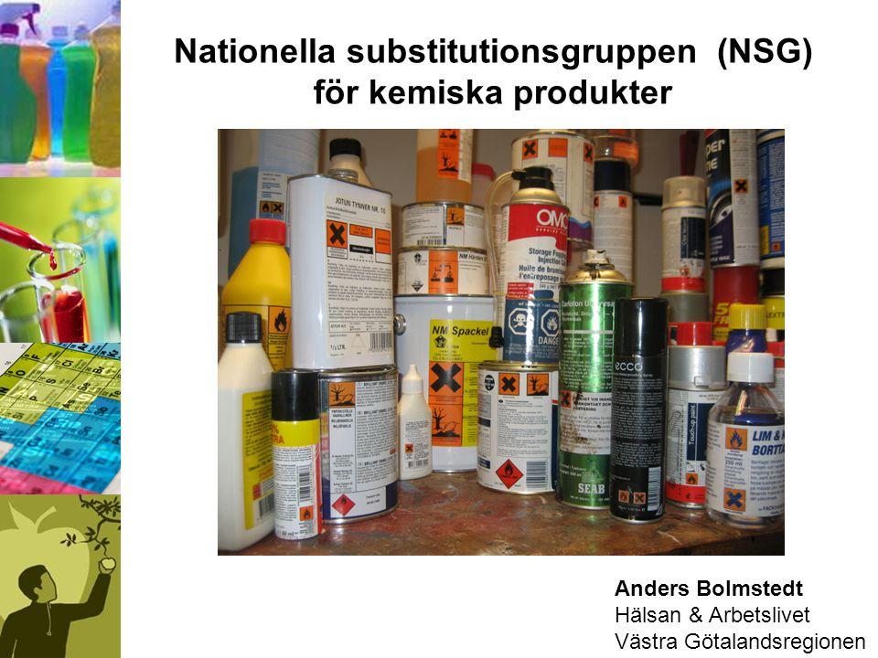 Nationella substitutionsgruppen (NSG) för kemiska produkter