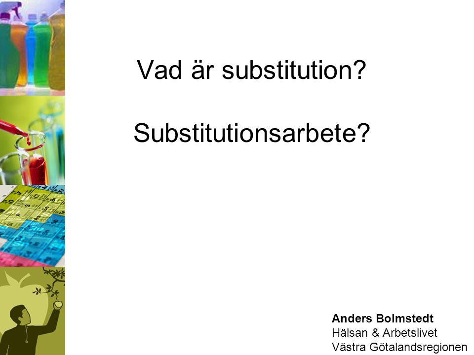 Vad är substitution Substitutionsarbete