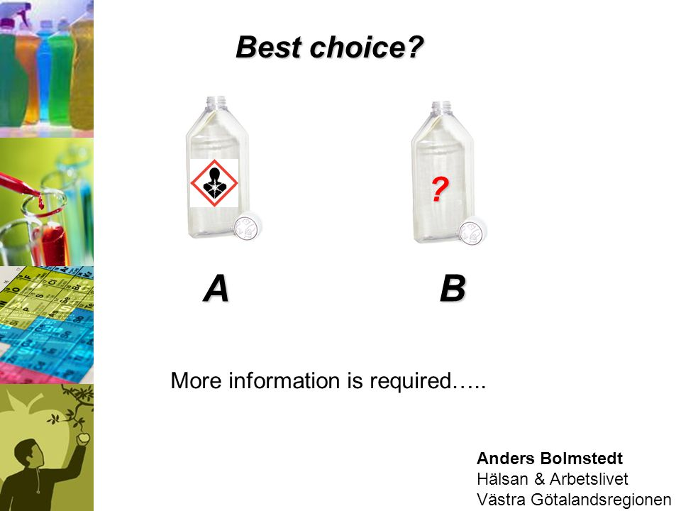 B A Best choice More information is required….. Anders Bolmstedt