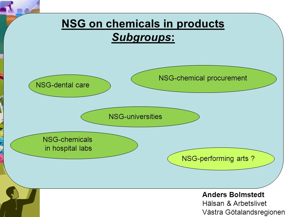 NSG on chemicals in products