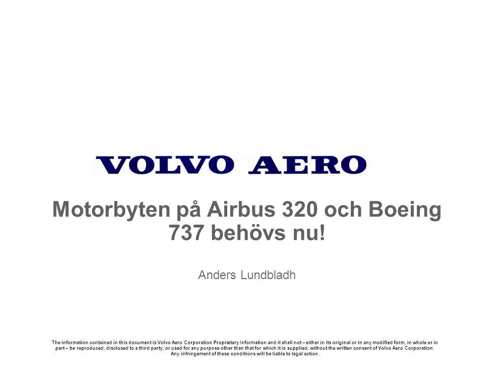 Motorbyten på Airbus 320 och Boeing 737 behövs nu! Anders Lundbladh