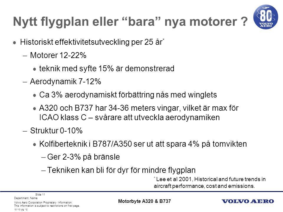 Nytt flygplan eller bara nya motorer