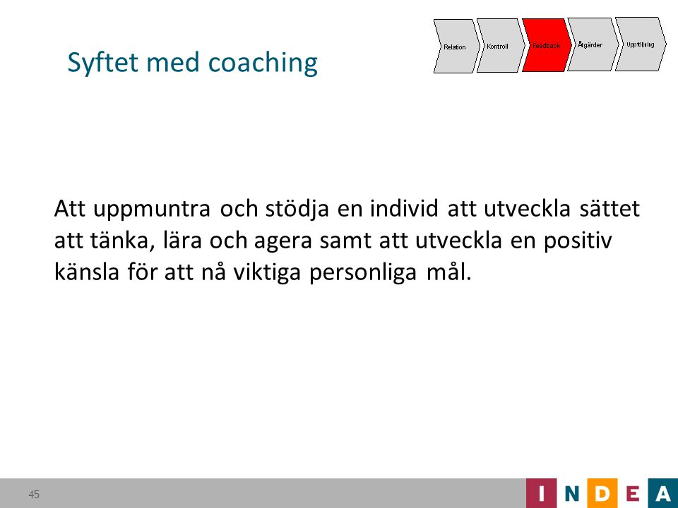 Syftet med coaching