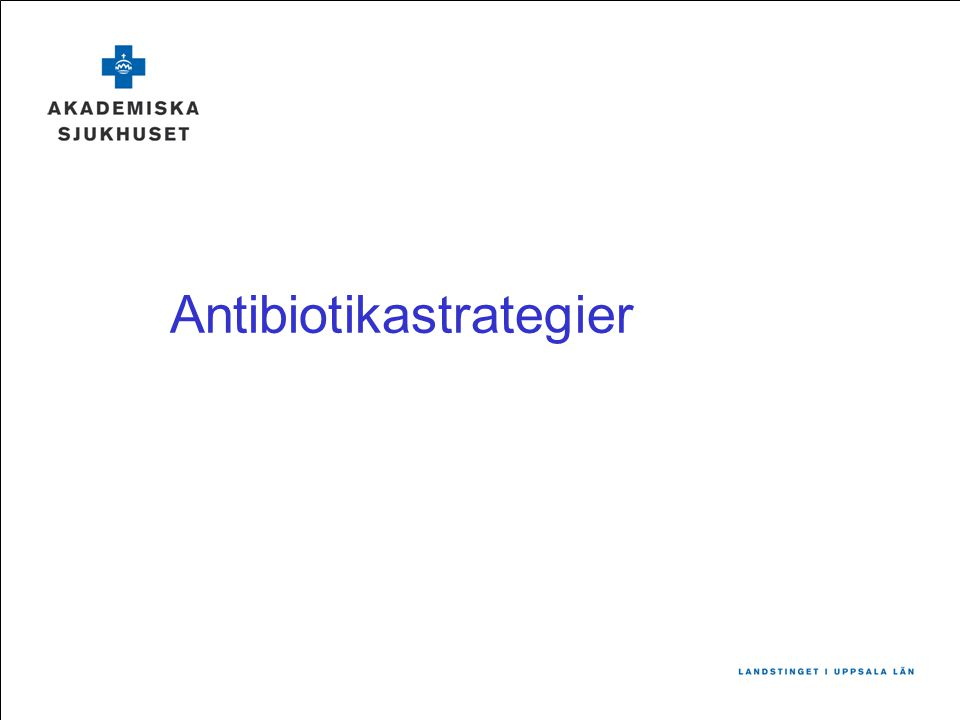 Antibiotikastrategier
