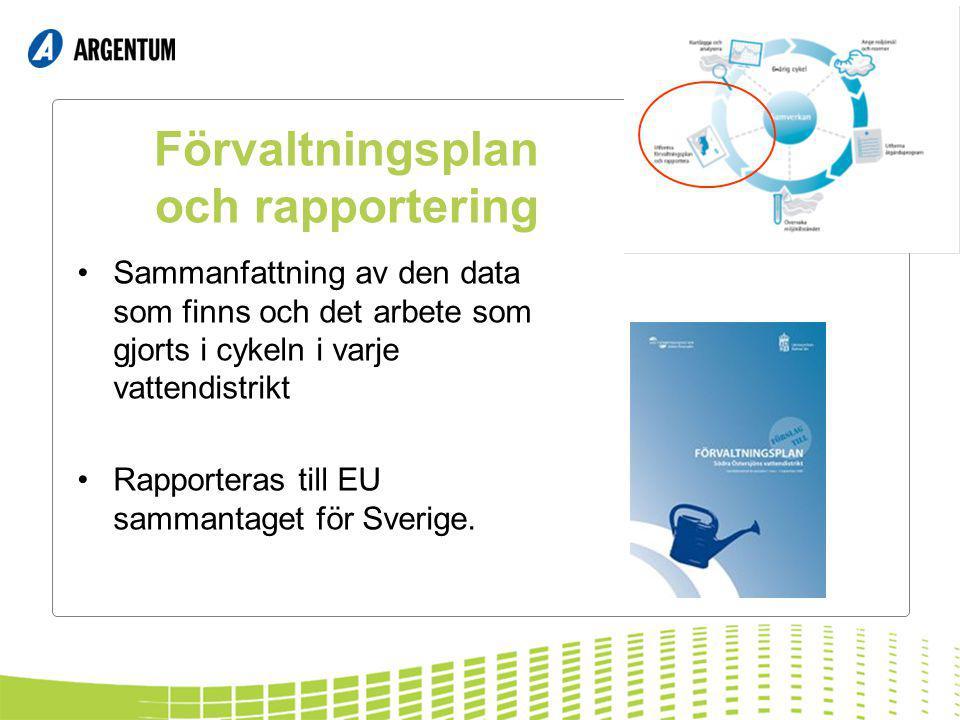 Förvaltningsplan och rapportering