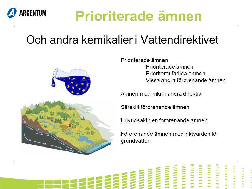 Och andra kemikalier i Vattendirektivet