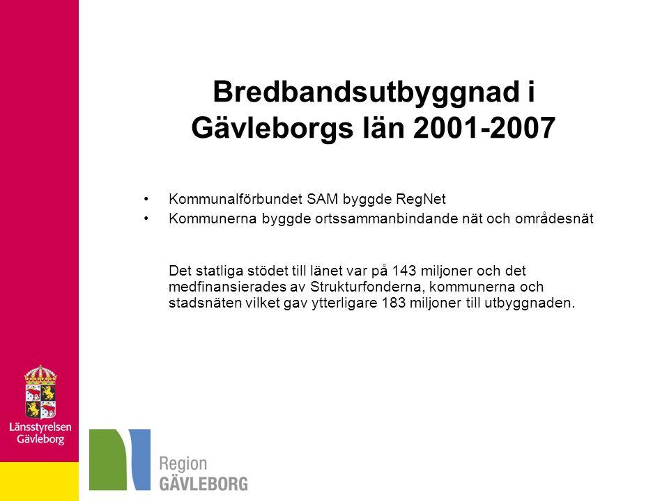 Bredbandsutbyggnad i Gävleborgs län 2001-2007