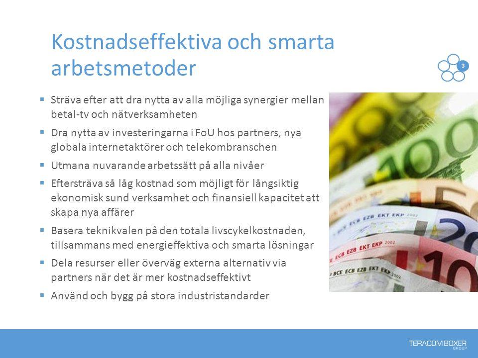 Kostnadseffektiva och smarta arbetsmetoder