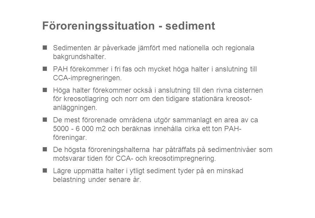 Föroreningssituation - sediment