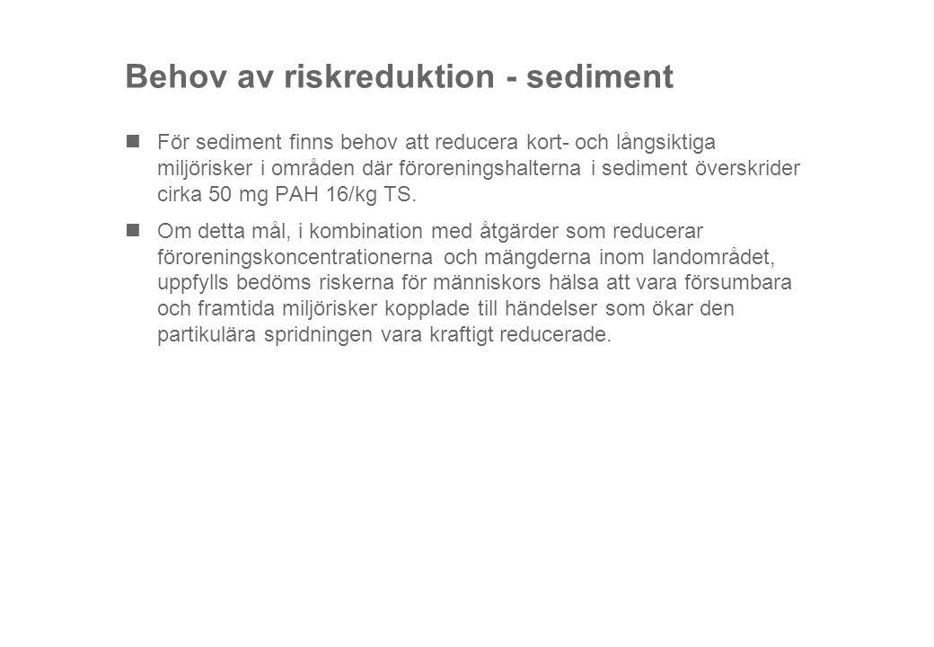 Behov av riskreduktion - sediment