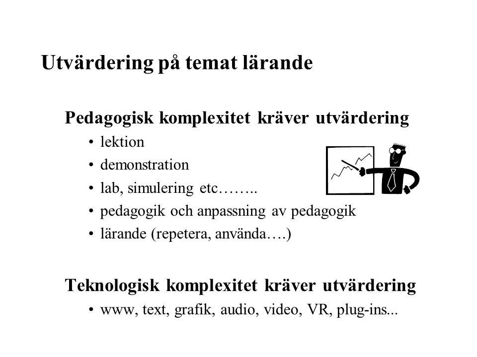 Utvärdering på temat lärande