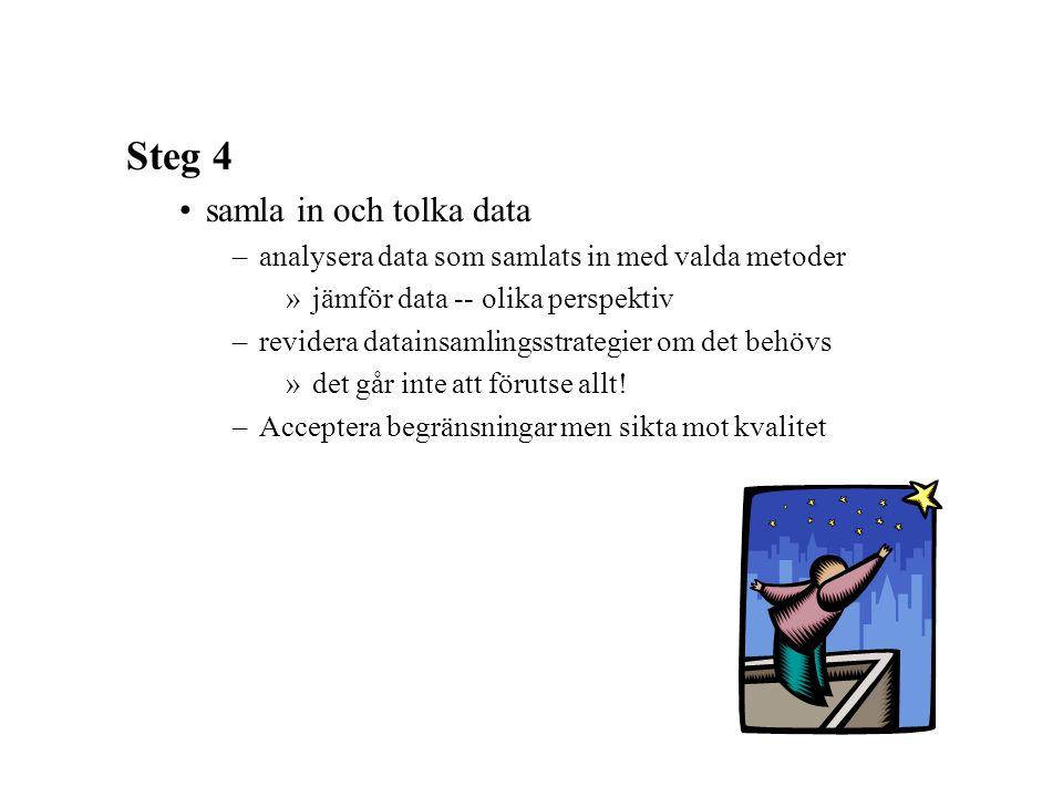 Steg 4 samla in och tolka data