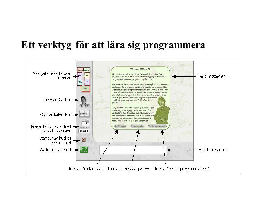 Ett verktyg för att lära sig programmera