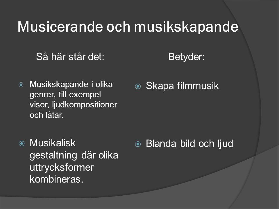 Musicerande och musikskapande