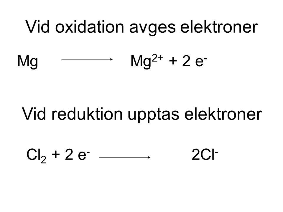 Vid oxidation avges elektroner