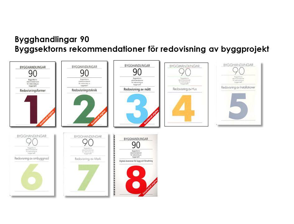 Bygghandlingar 90 Byggsektorns rekommendationer för redovisning av byggprojekt