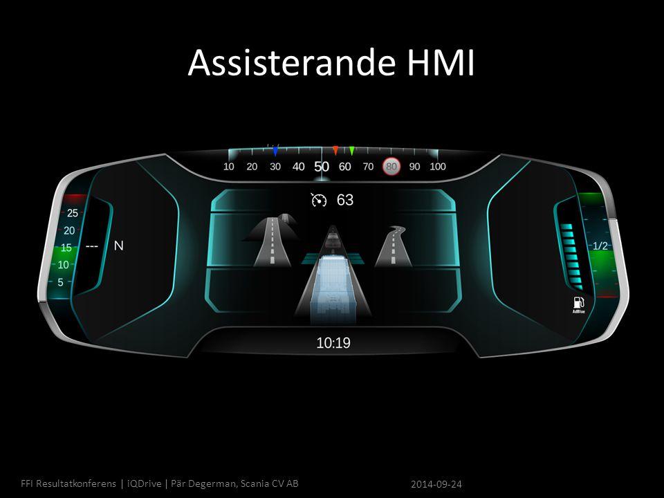 Assisterande HMI FFI Resultatkonferens | iQDrive | Pär Degerman, Scania CV AB 2014-09-24