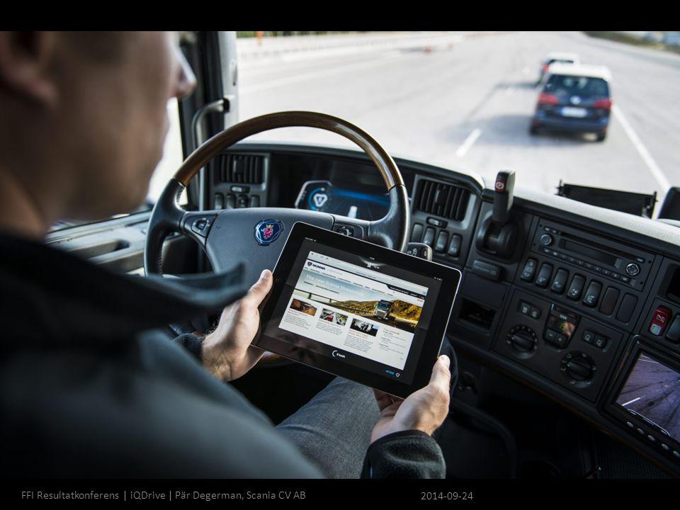 FFI Resultatkonferens | iQDrive | Pär Degerman, Scania CV AB