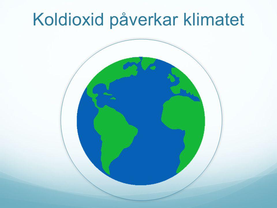 Koldioxid påverkar klimatet