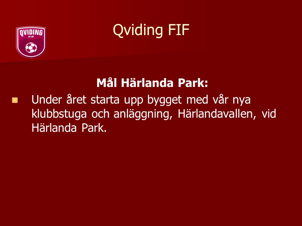 Qviding FIF Mål Härlanda Park: