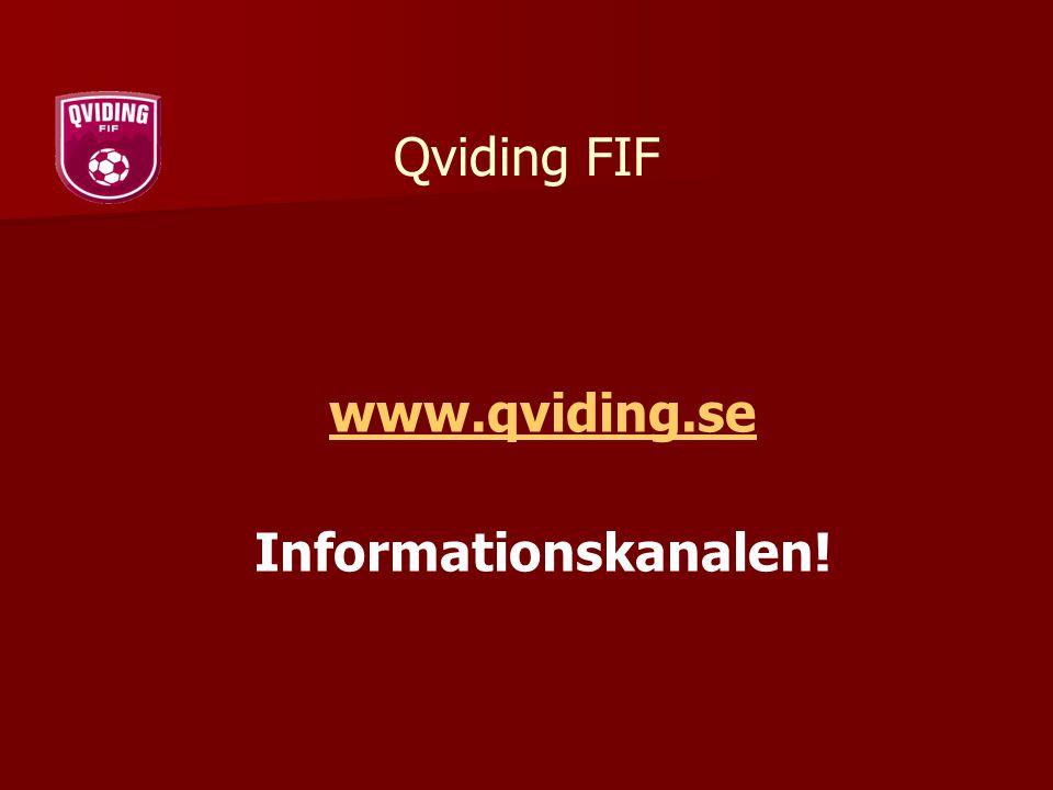 Qviding FIF www.qviding.se Informationskanalen!