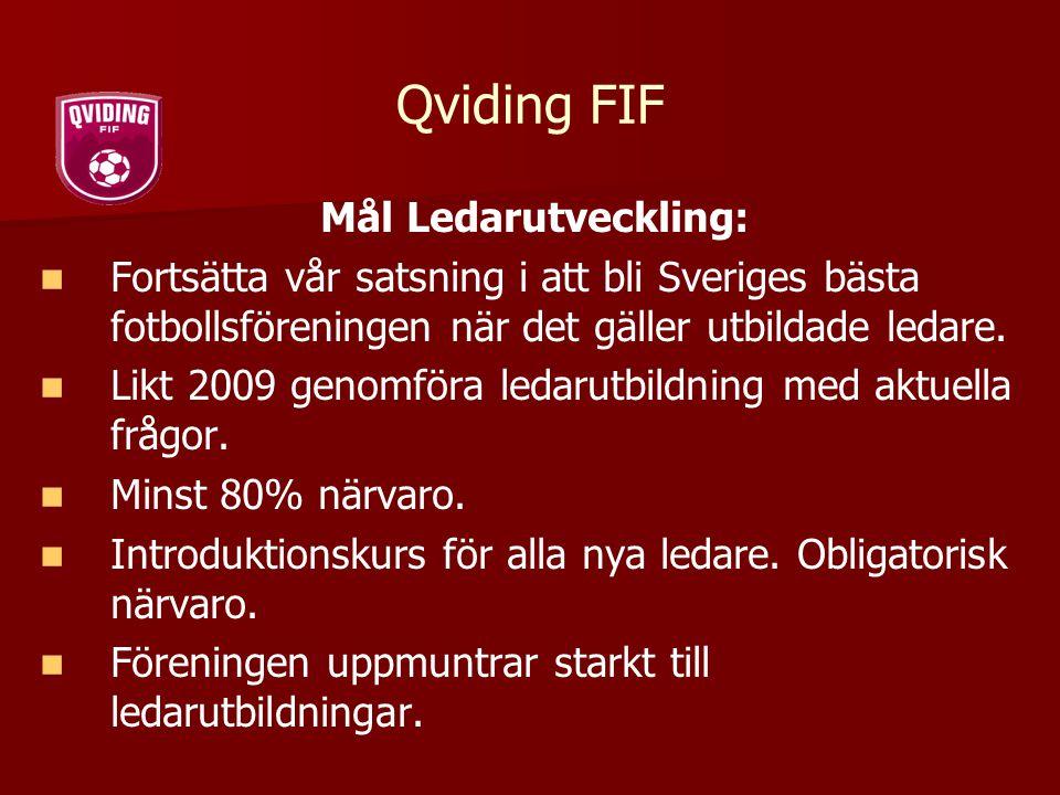 Qviding FIF Mål Ledarutveckling: