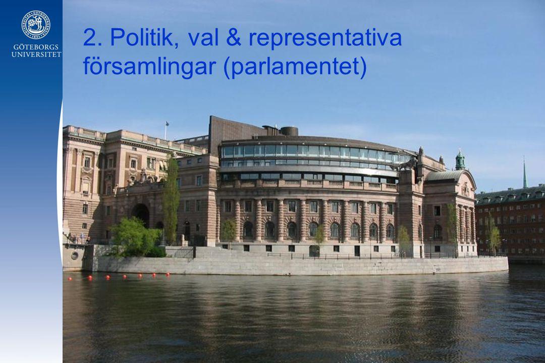 2. Politik, val & representativa församlingar (parlamentet)