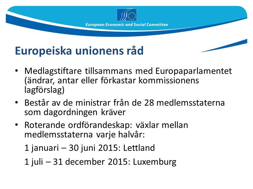 Europeiska unionens råd