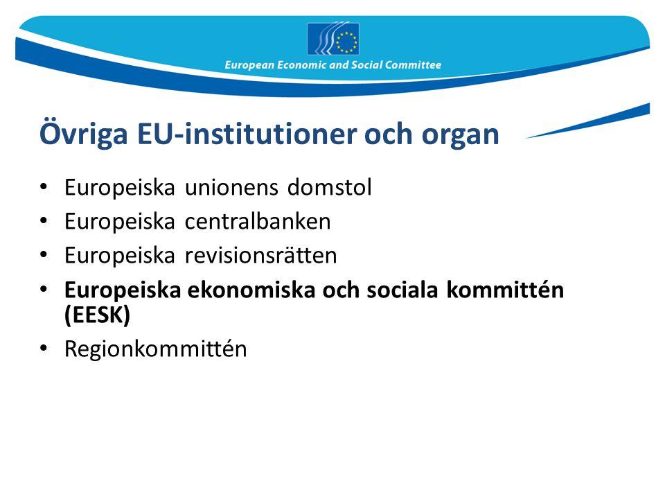 Övriga EU-institutioner och organ