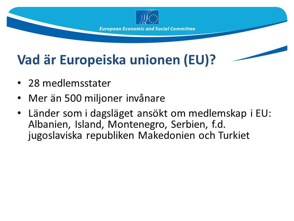 Vad är Europeiska unionen (EU)