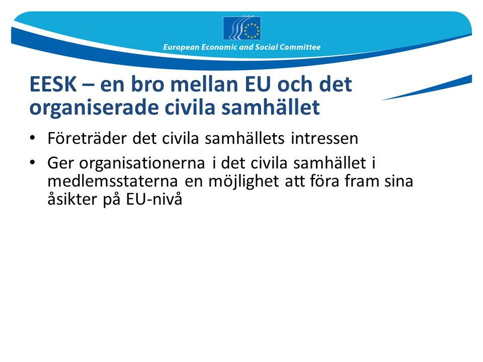 EESK – en bro mellan EU och det organiserade civila samhället