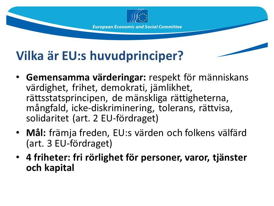 Vilka är EU:s huvudprinciper