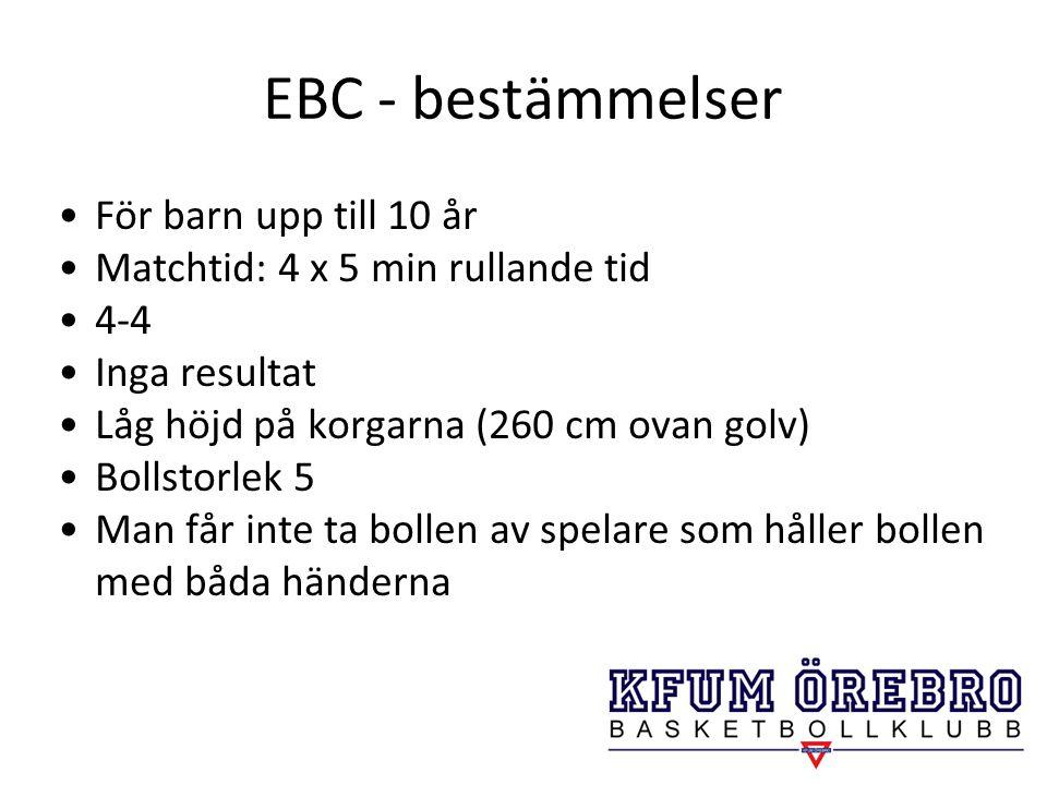 EBC - bestämmelser För barn upp till 10 år