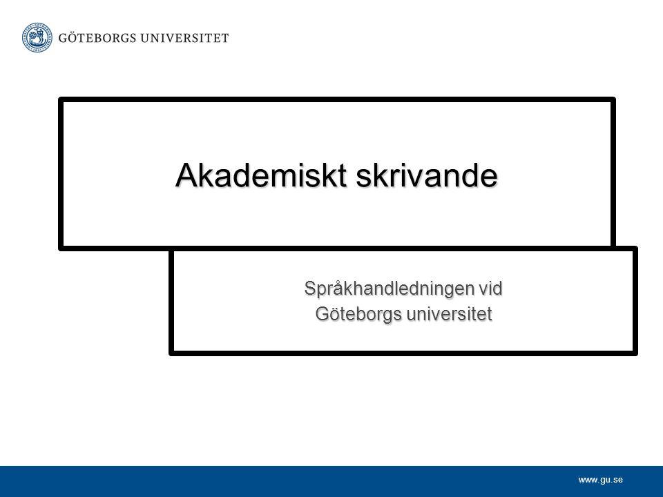 Språkhandledningen vid Göteborgs universitet