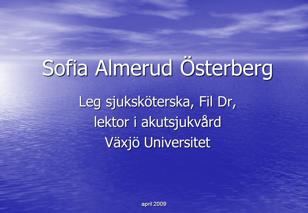 Sofia Almerud Österberg