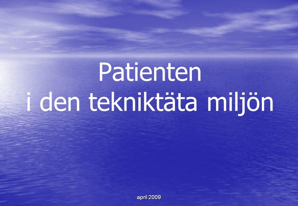 Patienten i den tekniktäta miljön