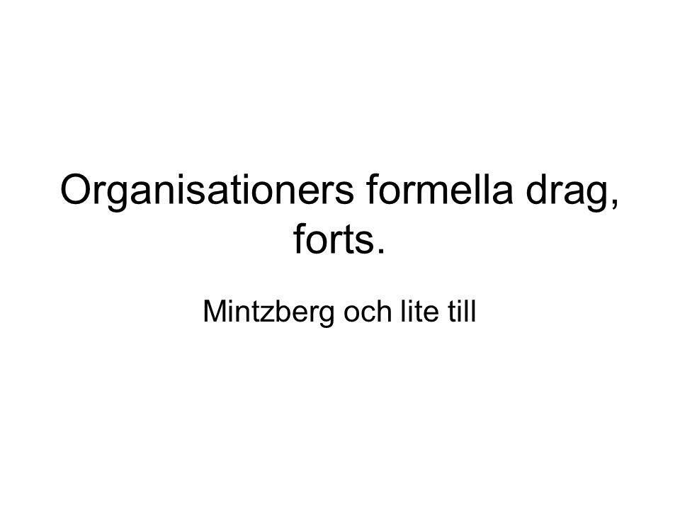 Organisationers formella drag, forts.